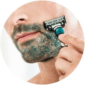 WHILE SHAVING